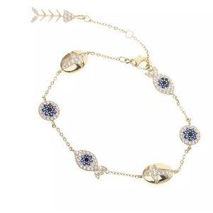 Gold Sapphire Faith Bracelet